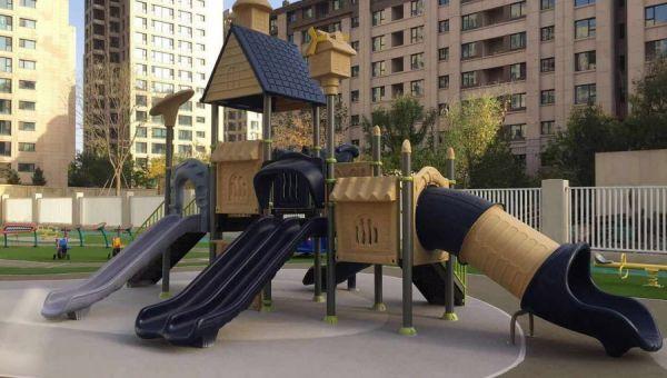 晨飞游乐设备与广州一小区签约儿童游乐设备供应及安装