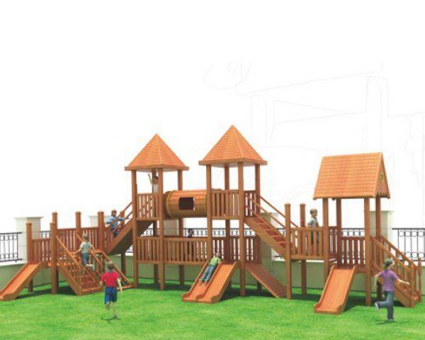 Wooden Combined Slide