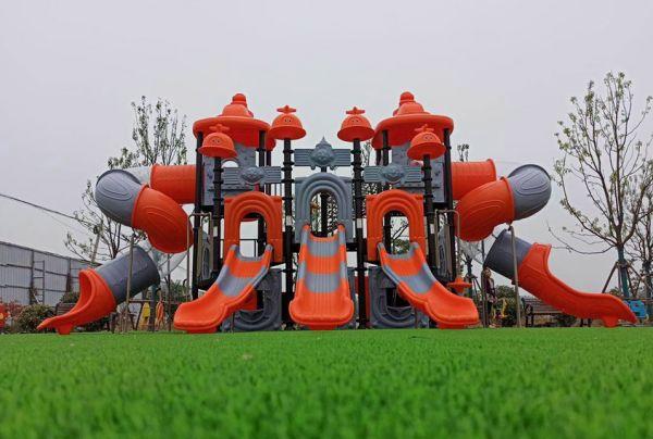 Children's slide in the park