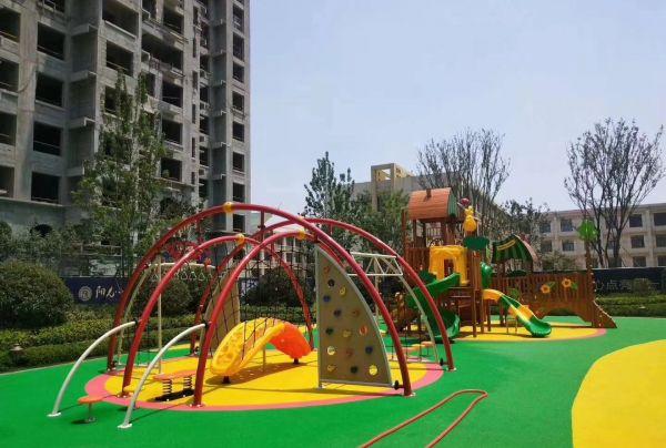 小区户外游乐场儿童组合滑梯攀爬