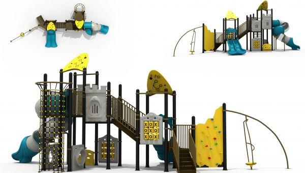 儿童组合滑梯主要有哪几种材质的?