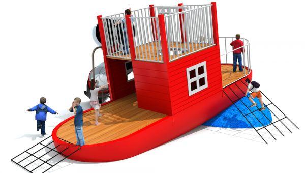 广州木质滑梯设计方案—游乐设备厂家