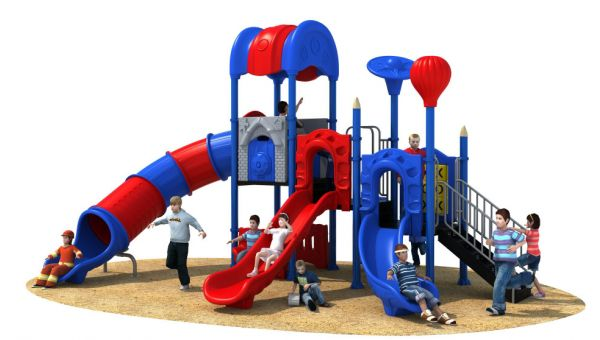 选择幼儿园滑梯的颜色也是非常重要的一个因素-广州游乐设备