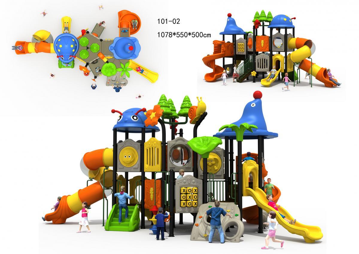 101-02儿童组合滑梯