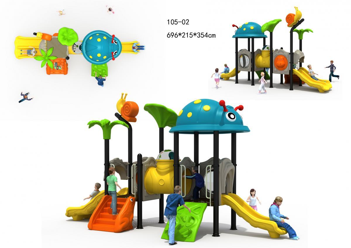 105-02儿童组合滑梯