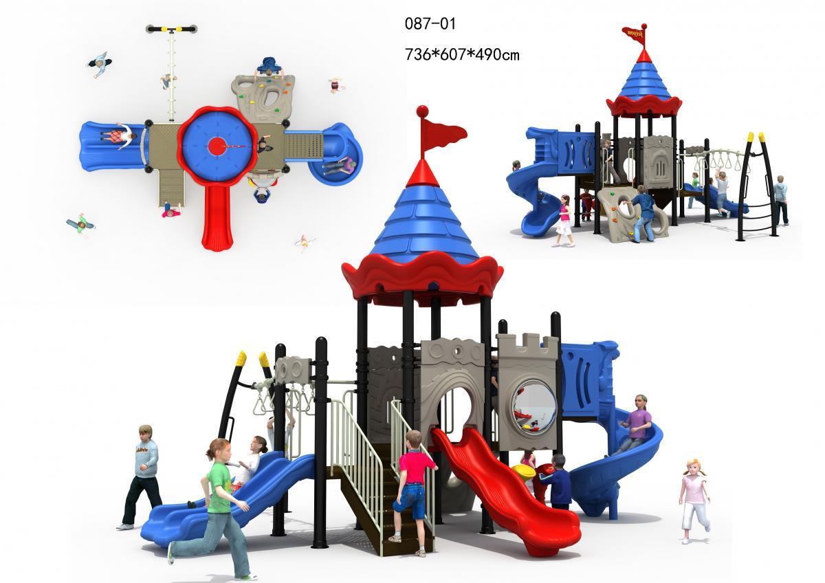 087-01长城主题系列组合滑滑梯