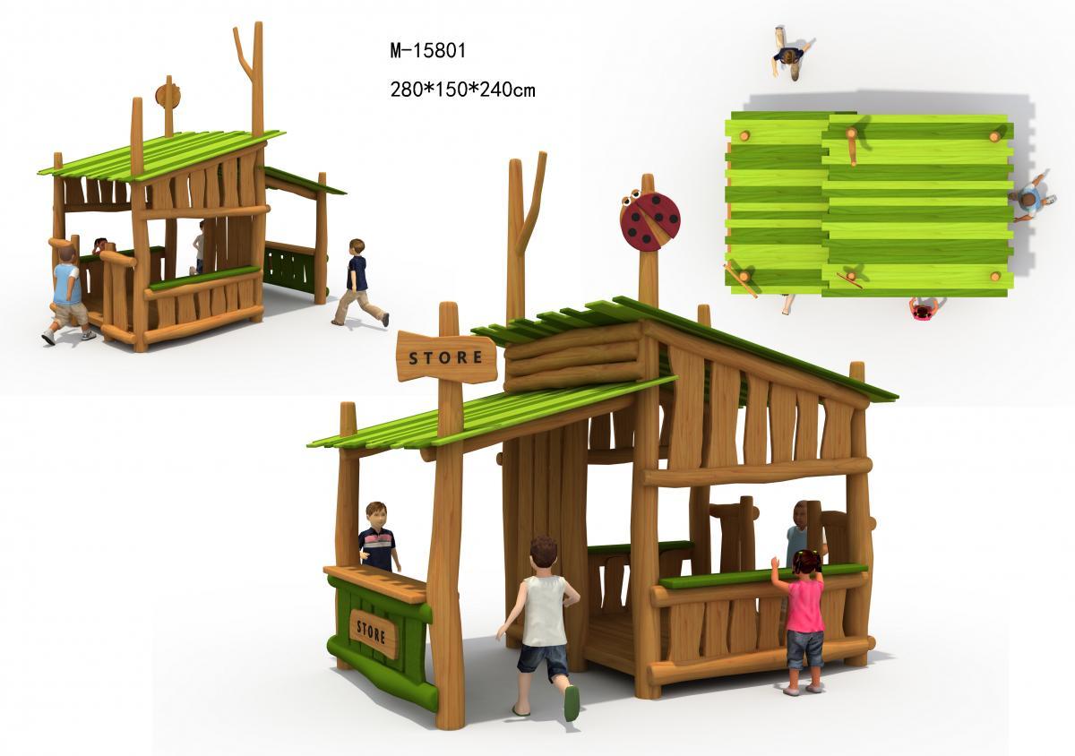 M-15801木质儿童自然商店屋