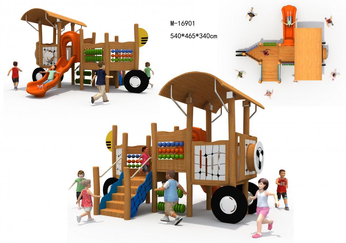 M-16901木质组合滑梯
