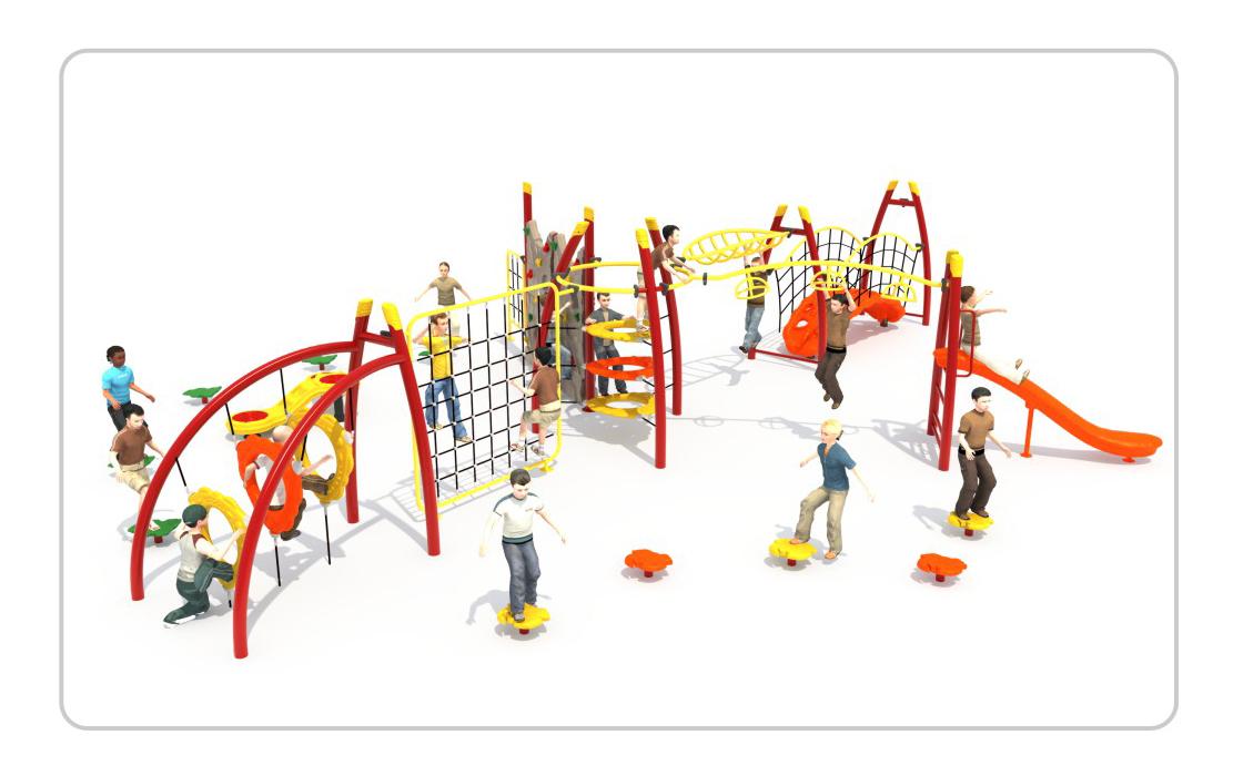 TNB-1803幼儿园户外游乐场攀爬架
