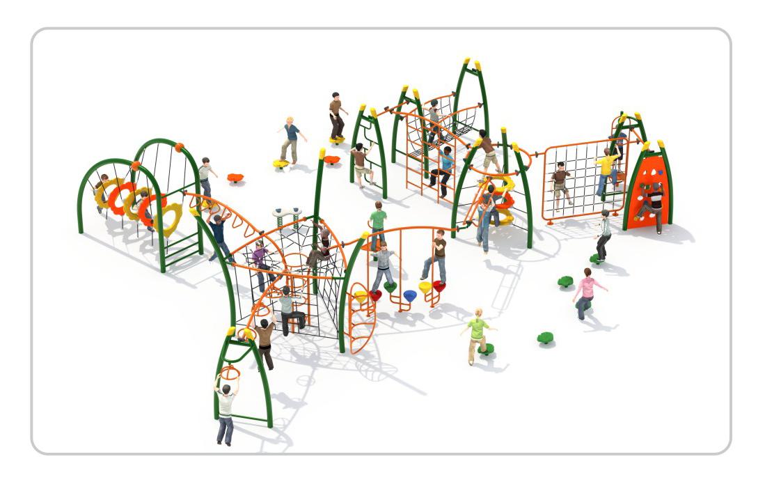 TNB-1808公园儿童攀爬架组合