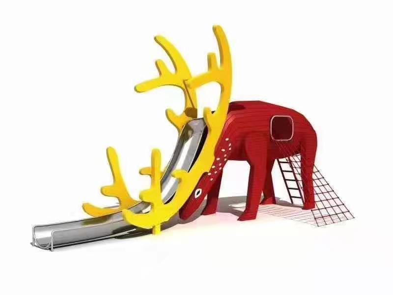 非标鹿造型滑梯定制