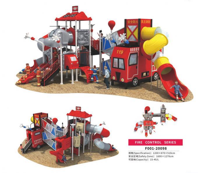 F001-20098儿童组合滑梯消防主题系列