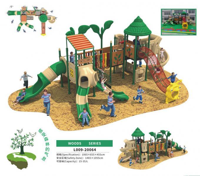 L009-20064幼儿园户外滑滑梯儿童塑料组合滑梯森林主题