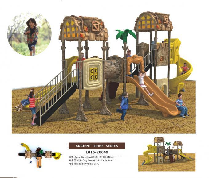 L015-20049新款儿童组合滑梯古树主题