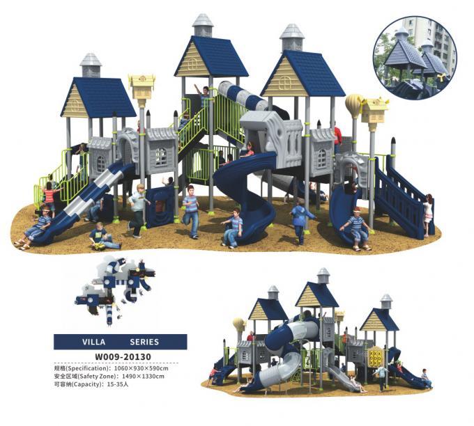 W009-20130别墅屋主题幼儿园组合滑梯