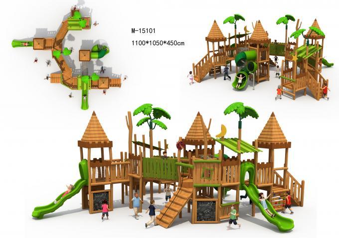 M15101木质组合滑梯