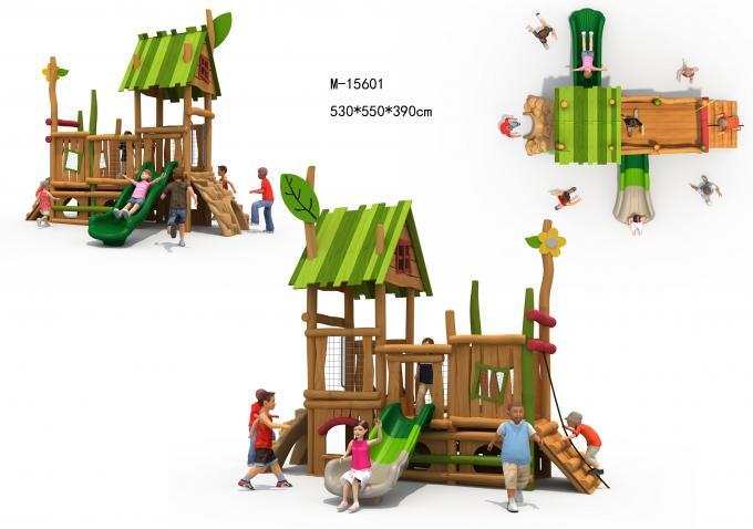 M-15601木质幼儿园组合滑梯