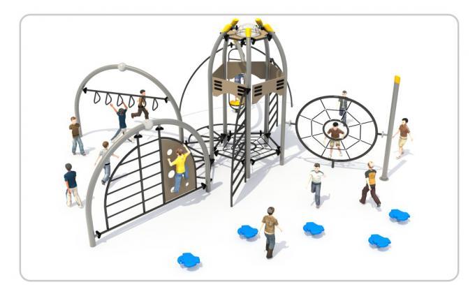 TNB-1818儿童游乐场攀爬架组合