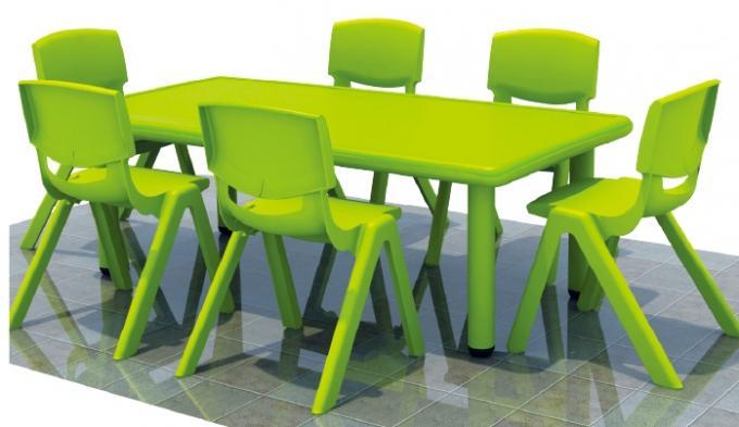 幼儿园长方形六人桌