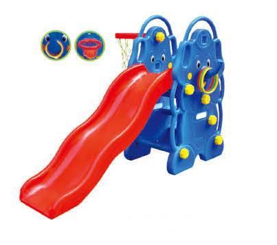 CF161A幼儿家用小滑梯带篮球框