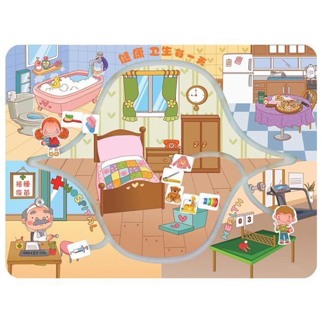 晨飞211413幼儿园墙面玩具学习卫生健康知识