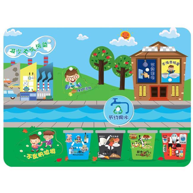 晨飞211415幼儿园墙面玩具学习环境保护知识