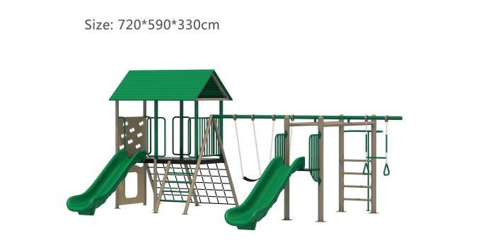 SJ2021006国外畅销款简约风秋千组合滑梯