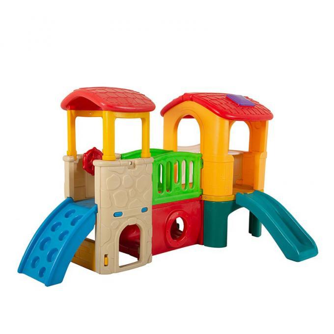 幼儿园室内外游乐设备小型滑梯小神童俱乐部滚塑折叠塑料滑梯组合