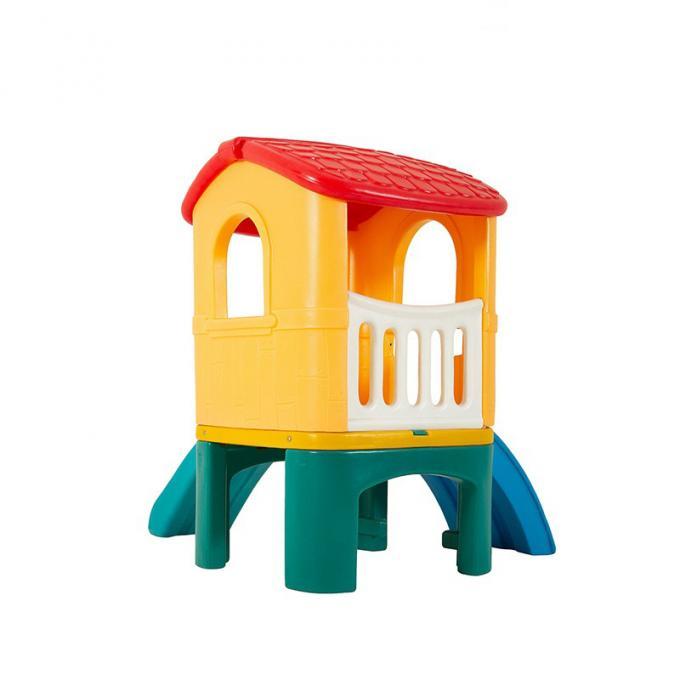 幼儿园儿童户外玩具小型滑梯童星小神童滚塑折叠家用塑料滑梯组合