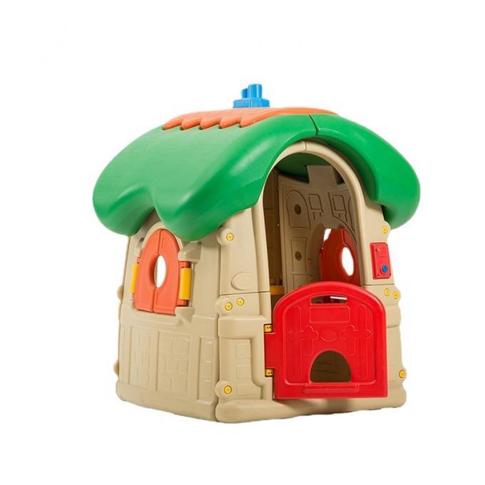 带发声门铃蘑菇小屋 儿童游戏屋 室内幼儿园塑料小房子户外玩具